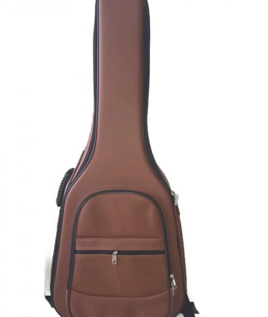 Softcase Guitar màu nâu