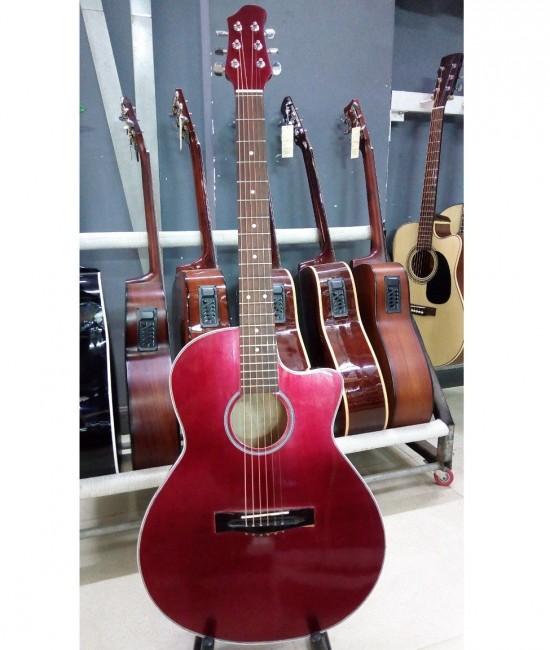 Acoustic guitar DVE85 đỏ mận