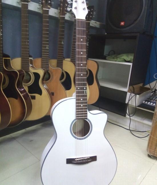 Acoustic guitar DVE85J trắng
